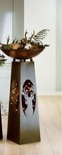 """Gilde Metall Schalenständer """" HIRSCH """" mit Schale - Garten - Skulptur - 117cm"""