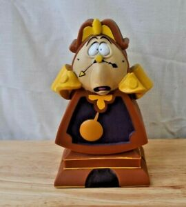 """Disney Beauty And The Beast Cogsworth Clock 5.5"""" Plastic Coin Bank"""
