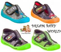 BOYS Canvas shoes trainers SLIPPERS Real leather insoles TODDLER KIDS SIZE 5-9UK