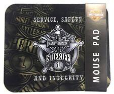Genuine Harley Davidson® Sheriff Computer Mouse Pad Mat MO126412