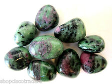 Ruby Zoisite 20mm QTY1 Tumbled Stone Healing Crystal Dispel Laziness Vitality