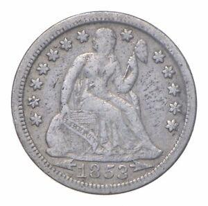 Full Liberty - 1853 Seated Liberty Silver Dime *223