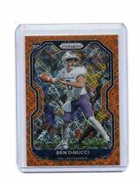 2020 Ben DiNucci Prizm Orange Laser Rookie Refractor Card #337 Cowboys