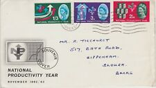 ** NATIONAL PRODUCTIVTY YEAR FIRST DAY COVER 14TH NOVEMBER 1962 **