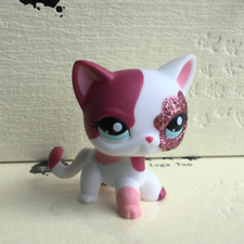 Littlest Pet Shop Collection LPS Toys Short Hair Cat Blythe Pink Rare Kitten