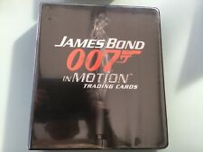 James Bond - IN MOTION 2008 Mini Master Set Rittenhouse Trading Cards Binder