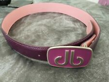 "DRUH BELT GOLF PLAYERS LEATHER BELT 30"" WAIST PURPLE OUT INNER IS PINK VGC"