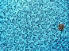 Swirls of dark blue on light fabric 1m x 112cm EB2572 100% cotton