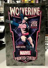Wolverine Randy Bowen Printed Statue Rare Classic Action NIB
