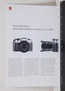 Leica Vario Elmar Camera Catalog Brochure g25