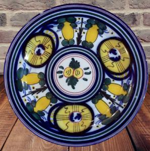 Ancienne assiette peint à la main décor de fruits art de la table kitchen deco