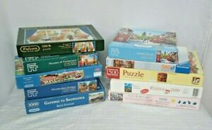 JOB LOT OF 10 BOXED JIGSAWS UNCHECKED SOLD AS SEEN 1500 TO 500