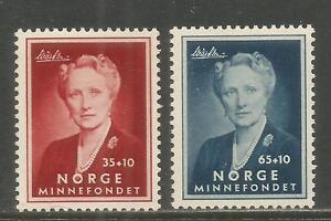 Norway 1956 Crown Princess Martha semipostal--Attractive Topical (B57-58) MH
