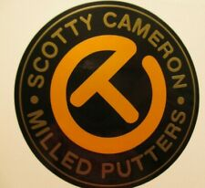 SCOTTY CAMERON CIRCLE T CT MILLED PUTTERS STICKER NEW GOLD / YELLOW TOUR ONLY