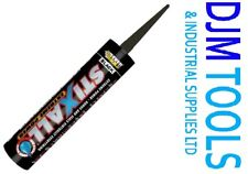 Everbuild Stixall Sealant & Grab Adhesive Glue MS Polymer 290ml Box of 12 BLACK