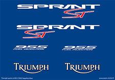 TRIUMPH sprint st 955 (1999_saphire) autocollant sticker decal