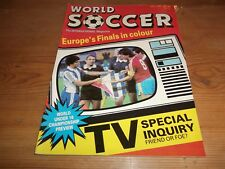 Football Magazine World Soccer July 1987 Europe's Finals Millonarios of Bogota