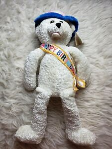 "Chantilly Lane Happy Birthday Musicals Bear Light Up Hat Animated 22"" NWT Plush"