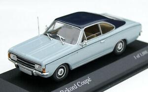 Opel Rekord C Coupé Bj. 1967-1972, Light Blue, Minichamps-Modell IN M.1: 43, Ob