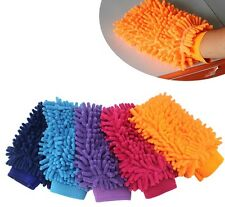 Microfibre Car Wash Washing Shampoo Cleaning Mitt Glove Polishing Cloth {}
