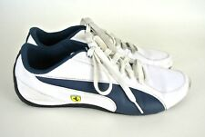 Puma Women s Lace Up Sneakers 9 White Blue Ferrari Sign Athletic Casual   1008 4af41a650