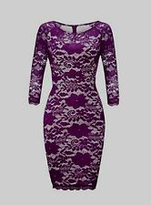 Sexy Woman Lace Dress Slim Fit Long Sleeve Dress O Neck Package Hip Dress Tops