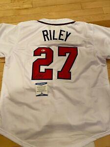 Austin Riley Signed Autograph Custom White Atlanta Braves Jersey Beckett COA BAS