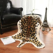 Leopard CowHide Animal Printed 2.6'x3.5 Faux Fur Rug Mat Carpet Blanket Washable
