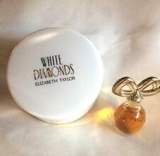 Elizabeth Taylor WHITE DIAMONDS Parfum Miniature 0.12 oz & Body Powder 1.25 oz