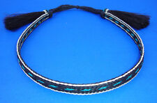 Western Cowboy/Cowgirl 5 Strand HAT BAND Black/White/Blue Horsehair