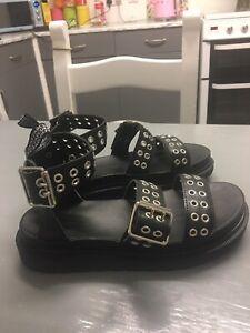 Dr Martins Style Sandals Size 4 Gladiator Studded Sandals