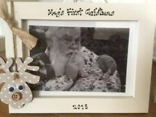 Personalised Photo Frame by Filly Folly! Baby's First 1st Christmas Gift! 7x5''