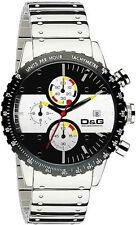 D&G BNWT Mens Rugby Chronograph Watch RRP £295. No box but a D&G pouch
