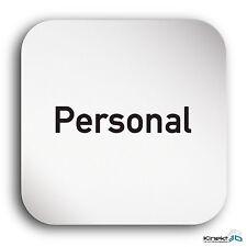 "Aluminium Schild ""Personal"" 150 x 150 mm • Stop • WC • Toilettenschild • Privat"