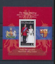 LM40533 Gibraltar Kate & William wedding royalty good sheet MNH