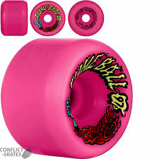 "SANTA CRUZ ""Slime Ball Vomits"" Skateboard Wheels 60mm 97a PINK 1980s Slimeballs"