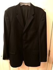 Men's Claiborne Axcess- Lined Black Suit Jacket Size 44 Regular - EUC