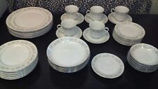 VINTAGE ROYAL GALLERY FINE CHINA 3134 SUZANNE JAPAN 41 piece set