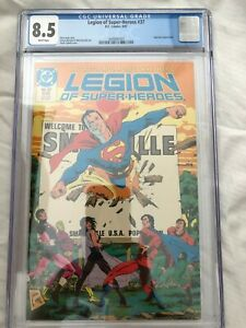 Legion of Superheroes #37--CGC 8.5--Superboy appearance!