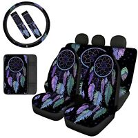 Dreamcatcher Car Front & Rear Seat Covers Full Set 7/8pcs Auto Accessories Decor