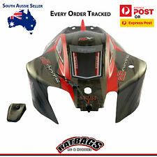 Arrma Typhon V4 Red & Black Painted Body Shell Nose Cone Body Clips & Decals