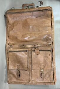 HARTMANN Vintage BELTING LEATHER 38 INCHES CARRY ON OVERNIGHT GARMENT BAG