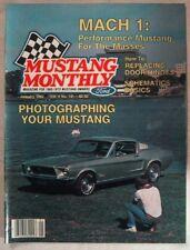 MUSTANG MONTHLY 1982 JAN - THE MACH 1s, SCHEMATICS