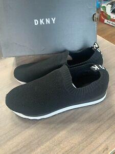 NEW Women's DKNY Jerri Slip On Knit Casual Black Sneakers Pick Size