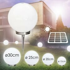 Set Sfere Luminose LED 15 cm, 20 cm, 25 cm & 30 cm Luce Esterno Giardino Bianco