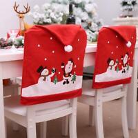 Housse de chaise de Noël Père Noël bonhomme Couverture de chaise décor de Noël