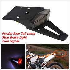 Smoke Lens Motorcycle Enduro Fender Rear Tail Lamp Stop Brake Light Turn Signal
