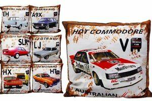 Aussie Muscle Car Throw Cushion Ford Holden Bachelor Man Cave + Free Tin Sign AU