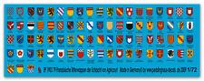 Peddinghaus  1/72 1903 79 verschiedene Französische Ritterschilde der Schlacht u
