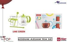 Bodum BODUM ASSAM TEA SET GREEN 1 LITRE TEAPOT - 2 SPOONS - 2 MUGS BNIB
